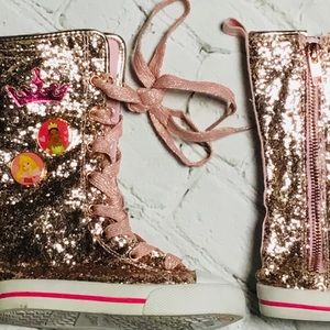 Little Girl Disney Princess Hightop Sparkle Boots